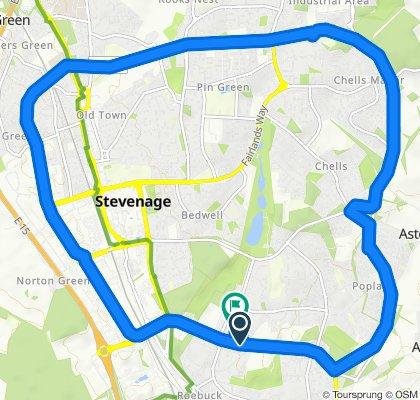 Moderate route in Stevenage
