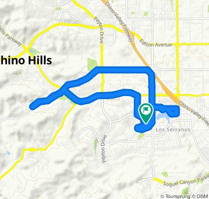 Relaxed route in Chino Hills