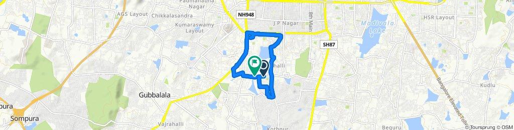 670, 6th Main Road, Bengaluru to 25, 1st Main Road, Bengaluru