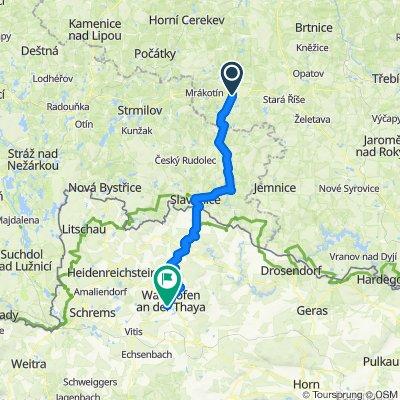T2: Telc - Slavonice - Waidhofen a.d. Thaya