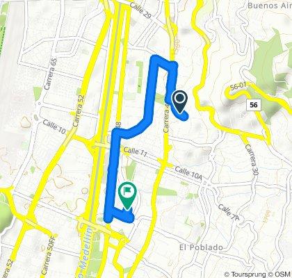 Calle 17 40B-2–40B-70, Medellin to Carrera 45 1-15–1-99, Medellin