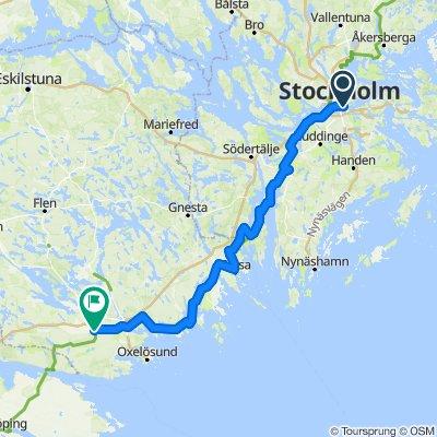Stockholm - Nyköping Etappe 1
