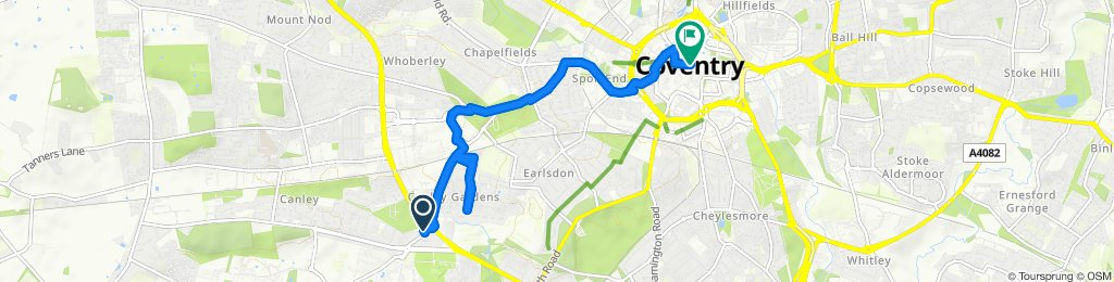 canley to city centre