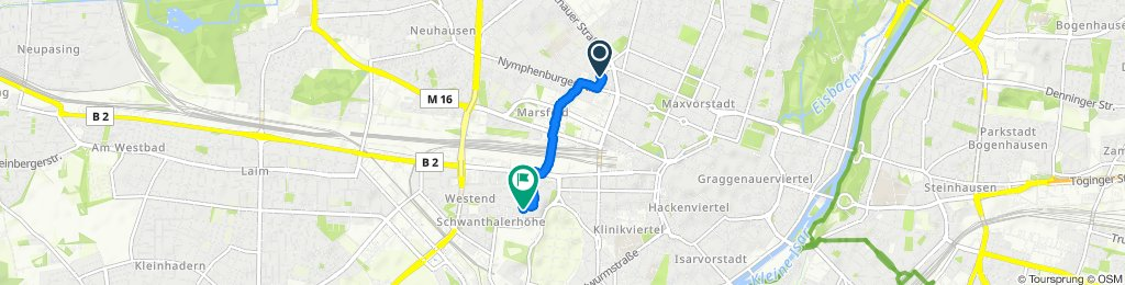 Einfache Fahrt in München