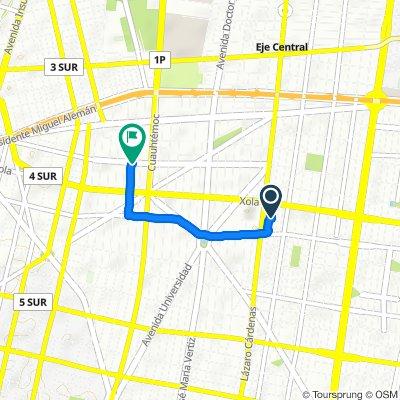 Calle Navarra 204, Mexico City to Calle Pitágoras, Mexico City