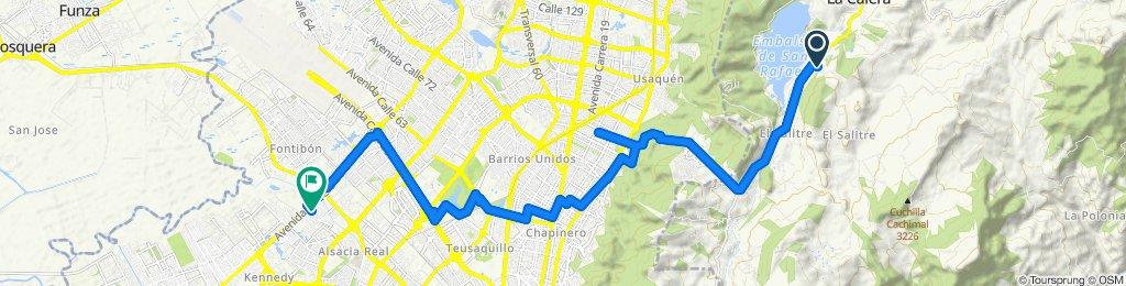 Paseo lento en Bogotá
