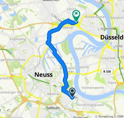 Hagebuttenweg, Neuss to Viersener Straße 38, Düsseldorf