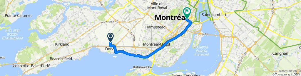 1080206 8of12 QC - 02f Dorval, QC (Montreal Airport) to Montreal, QC (HI Montreal Hostel) 22km