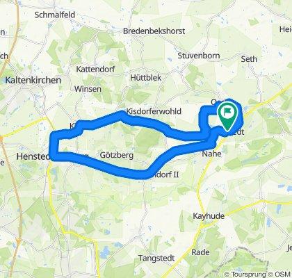 Hochgeschwindigkeitsroute in ItzstedtHu