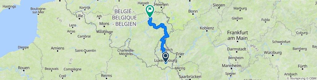 Luxembourg - Liège (leg 13)
