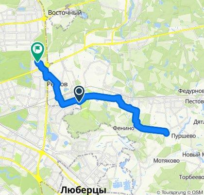 Дальние велоездки из мкрн. Саввино Балашиха 22 01 2020