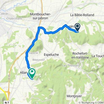 Chemin de Saint-Bonnet, Puygiron to 785 Chemin de Maranne, Allan