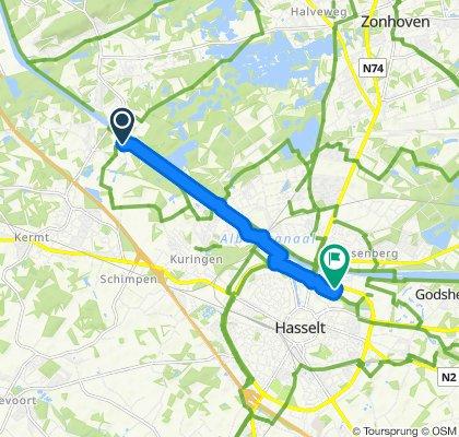 Rustgevende route in Hasselt