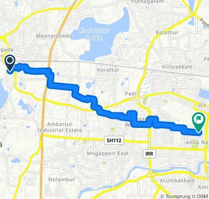 Slow ride in Chennai