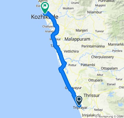 Sporty route in Kozhikode