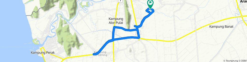 Relaxed route in Kangar