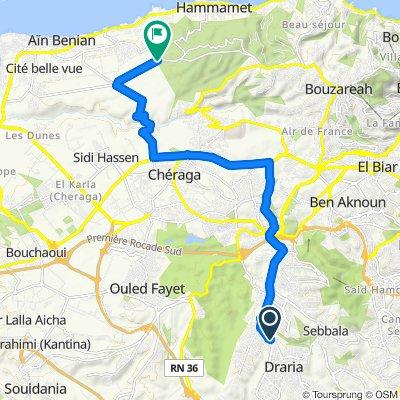 High-speed route in Hammamet, Algiers