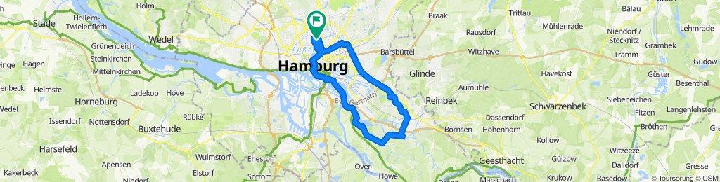 Winterhude - HafenCity - Vierlanden - Segelflugplatz Boberg - Horner Rennbahn - Eilbek - Winterhude