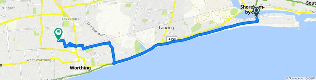 Doveleys Court, 1 Riverside Road, Shoreham-by-Sea to 28 Bulkington Avenue, Worthing