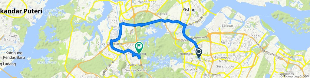 Relaxed route in Bukit Panjang