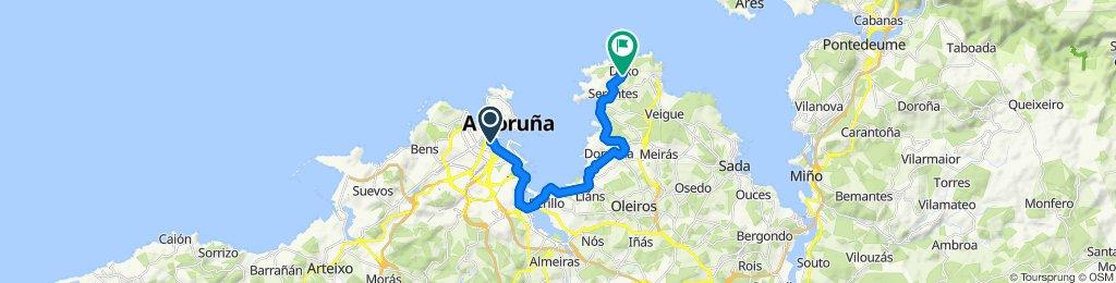 Ruta tranquila en Oleiros