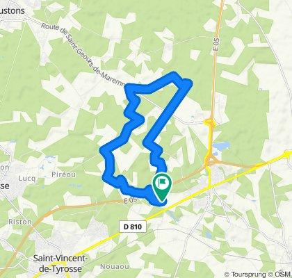 Itinéraire modéré en Saint-Geours-de-Maremne