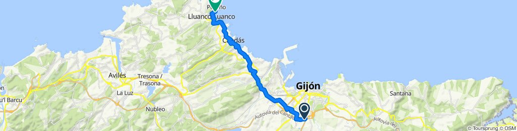 Gijón-Luanco (sercuen)
