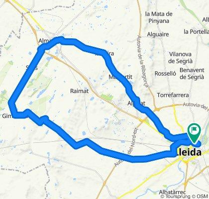 LLEIDA/ALMACELLAS/GIMENELLS/LLEIDAuta rápida en Lleida