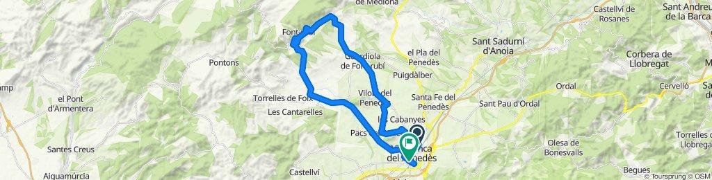 Ruta moderada en Vilafranca del Penedès