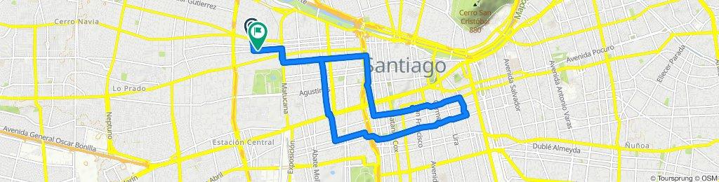 Vargas Fontecilla 3810–3906, Quinta Normal to Martínez de Rozas 3700–3798, Quinta Normal
