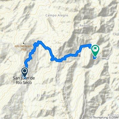 Paseo rápido en Bituima