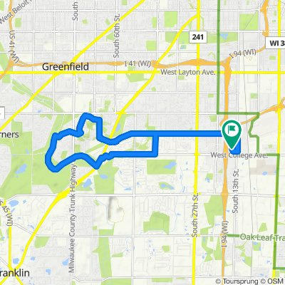 Greendale route (quick)