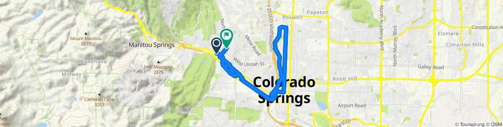 Supersonic route in Colorado Springs