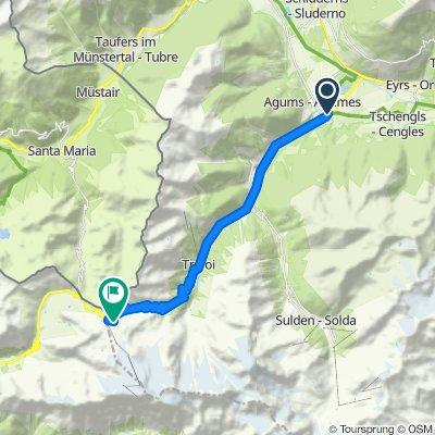 Prato allo Stelvio - Passo dello Stelvio_24,7km-1851m,7,5%-3:35h