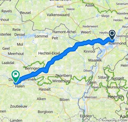 Von Horn/NL nach Diest/Belgien