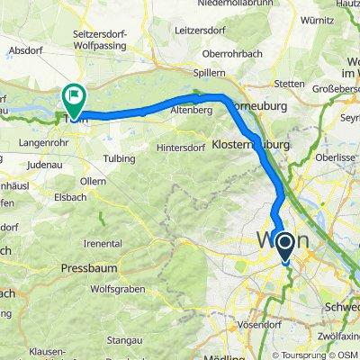 Wien nach Tulln