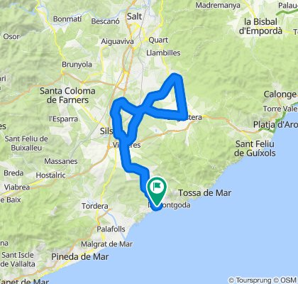 Lloret de Mar - Caldes - Lloret de Mar. Rennrad Katalonien