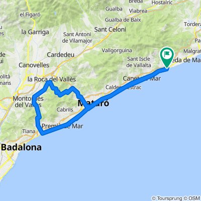 Maresme-Pässe. Rennrad Katalonien