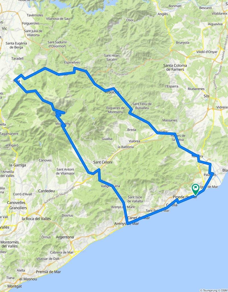 Montseny. Rennrad Katalonien