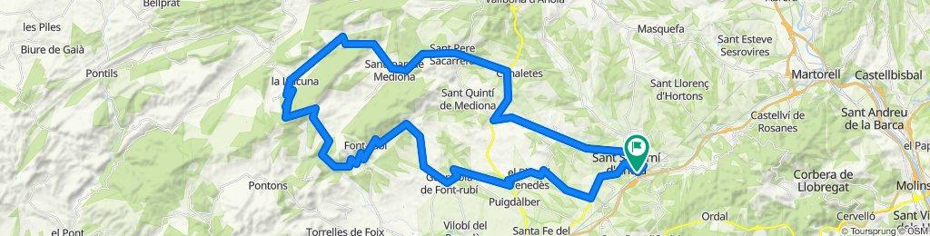 Penedès-Rundfahrt. Rennrad Katalonien