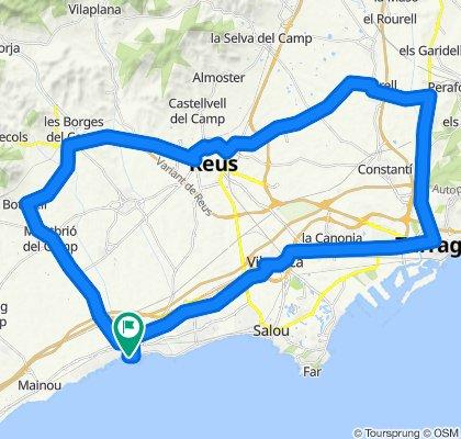 Cambrils - Reus - Tarragona - Cambrils. Rennrad Katalonien