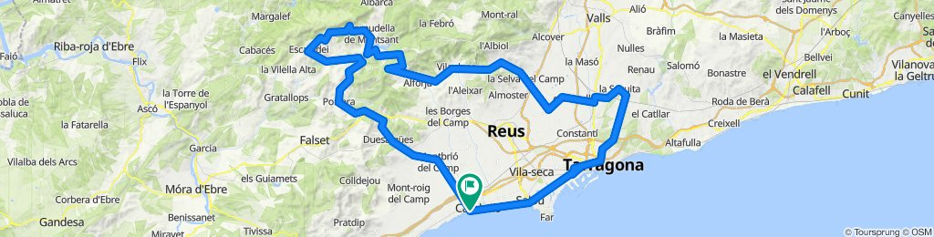 6 Pässe an der Costa Daurada . Rennrad Katalonien
