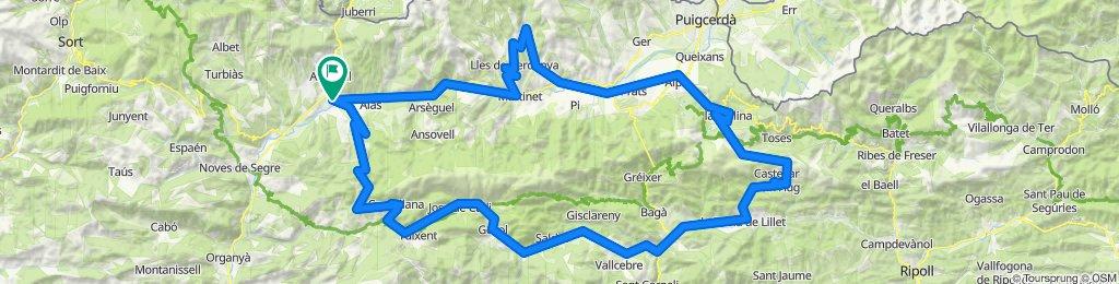 Cadí Tour (la Seu d'Urgell). Rennrad Pyrenäen. Katalonien