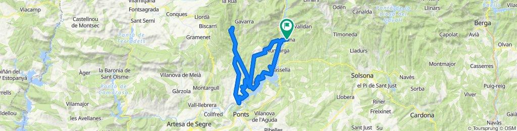 Oliana - Pantà de Rialp - Oliana. Rennrad Pyrenäen. Katalonien