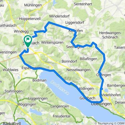 Stockach-durch den Linzgau nach Überlingen