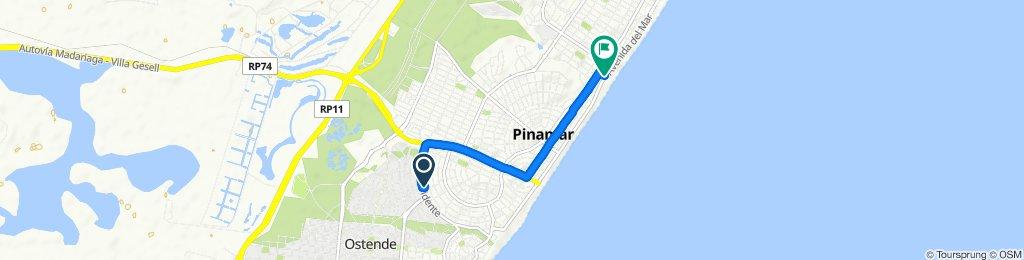 Ruta deportiva en Pinamar