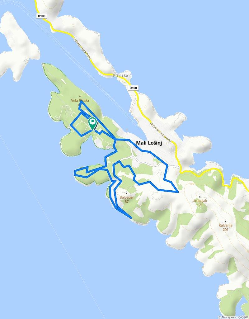 XTERRA Croatia - triathlon (bike course 27.01.2020.)