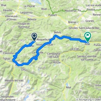 Belcaire to near Axat