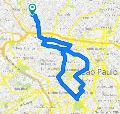 Rota moderada em Brasil