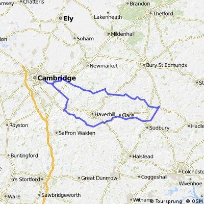 Cambridge-Lavenham-Cambridge circular v2 23/06/2010